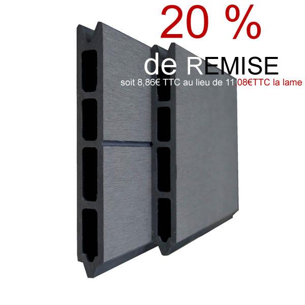 lame pour cl ture composite couleur gris anthracite granite. Black Bedroom Furniture Sets. Home Design Ideas