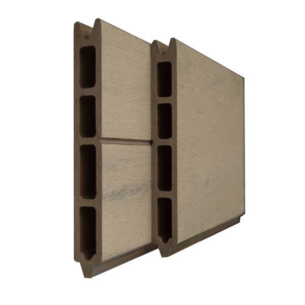 lame pour cl ture composite couleur noyer. Black Bedroom Furniture Sets. Home Design Ideas