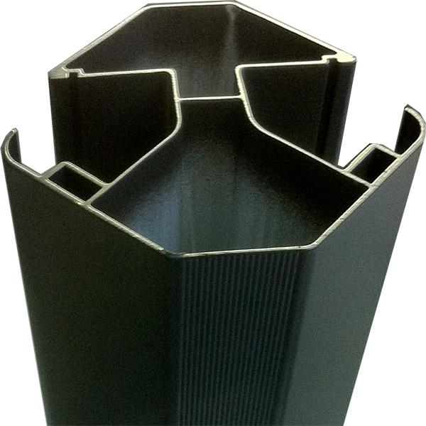 Poteau d angle en aluminium pour cl ture en bois composite - Poteau aluminium pour cloture ...