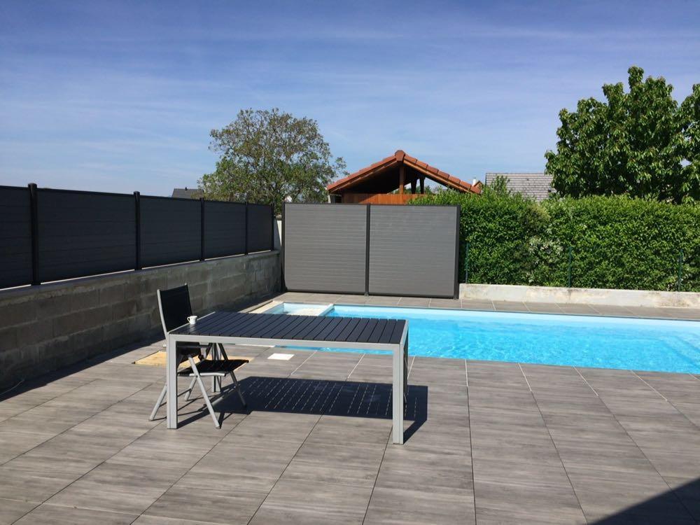 cloture moderne piscine terrasse